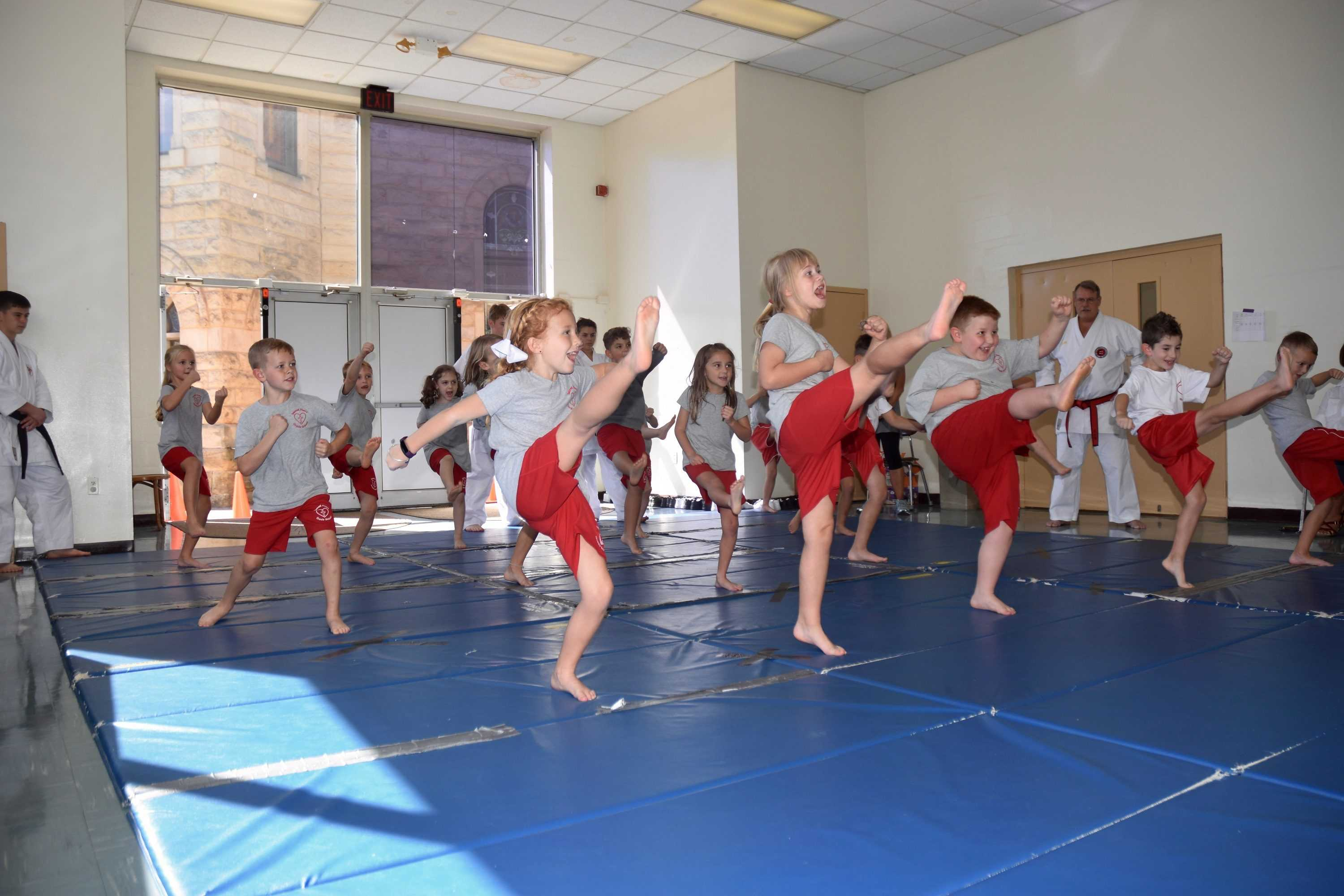 First grade Martial Arts class!