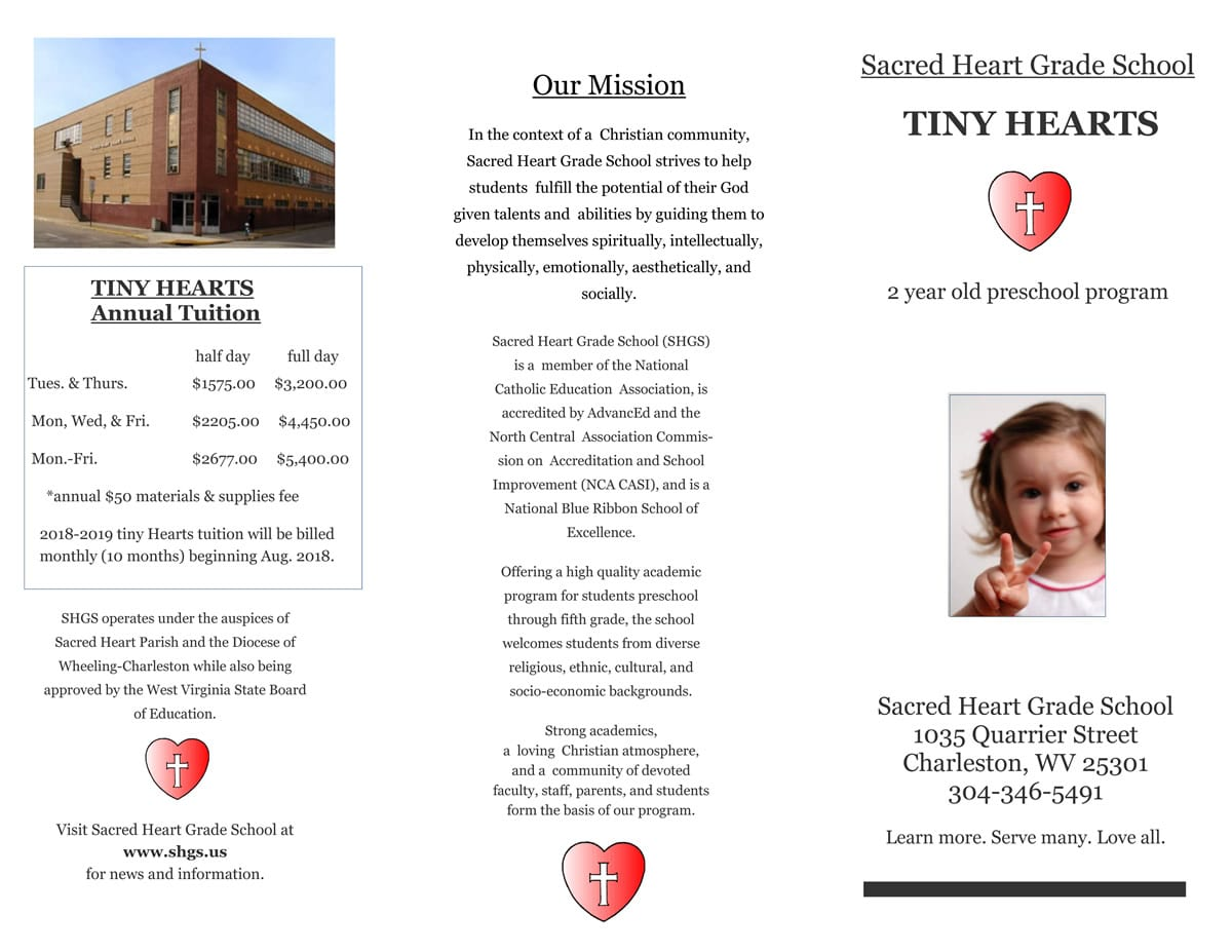 Click above to view our Tiny Hearts brochure.